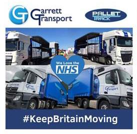 Garrett Transport Keep Britain Moving NHS